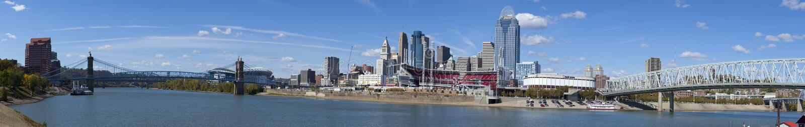Cincinnati Ohio (panoramic) stock photo
