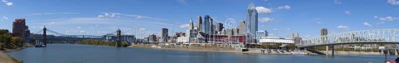 Cincinnati Ohio (panoramisch) stockfoto