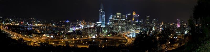 Cincinnati Ohio (panoramisch) lizenzfreies stockbild