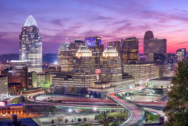 Cincinnati Ohio, USA arkivbild