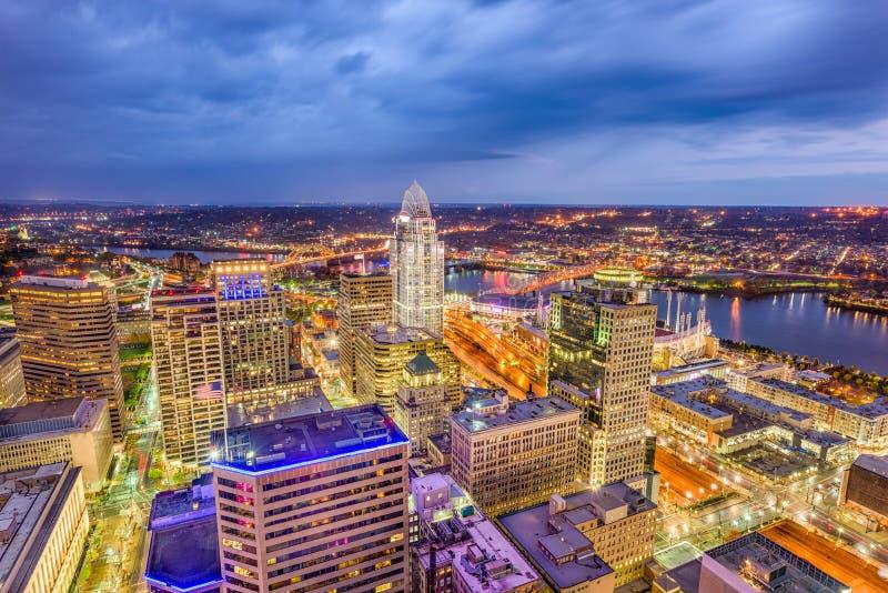 Cincinnati Ohio, USA horisont arkivbilder