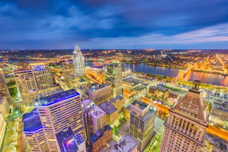 Cincinnati Ohio, USA horisont royaltyfria bilder