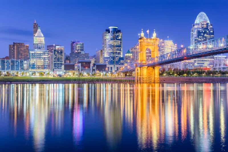 Cincinnati Ohio, USA horisont arkivfoton