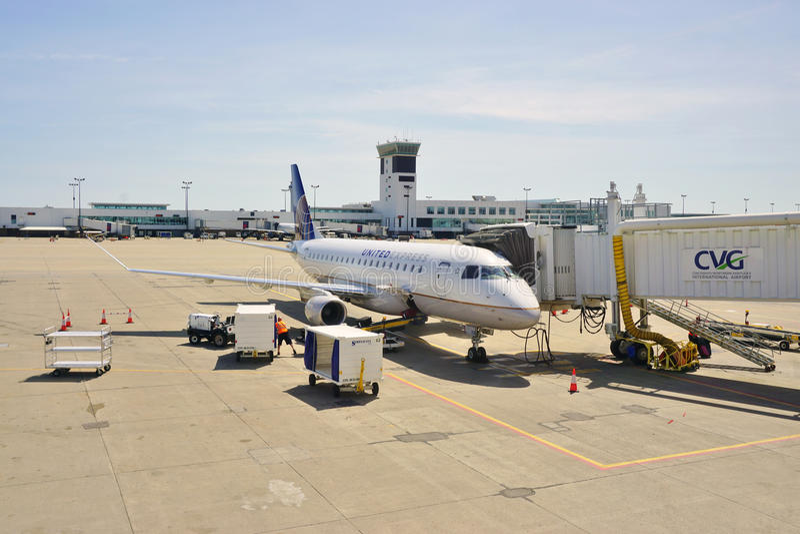 Cincinnati, Północny Kentucky lotnisko międzynarodowe/(CVG) obraz royalty free