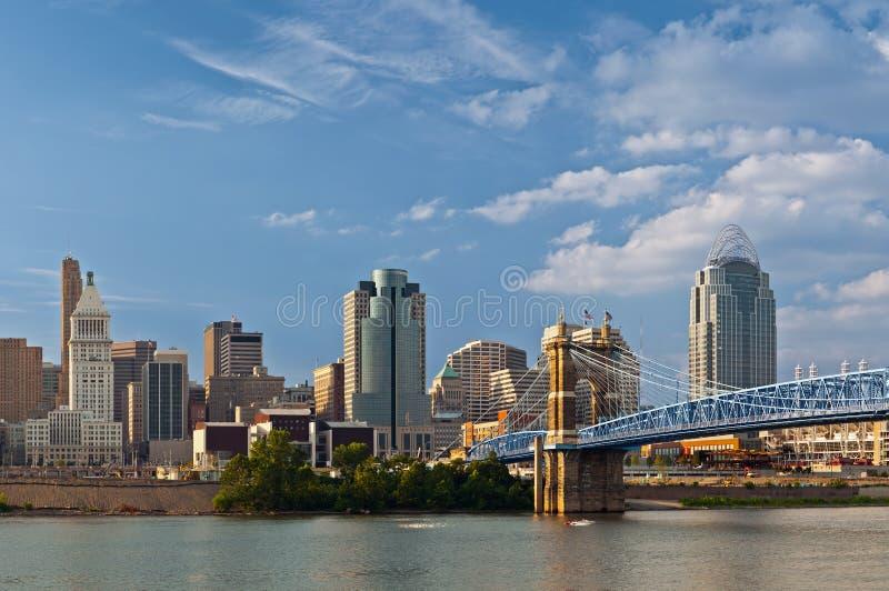 Cincinnati-Skyline. lizenzfreies stockbild