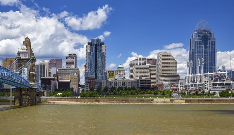 Cincinnati-Skyline stockbild