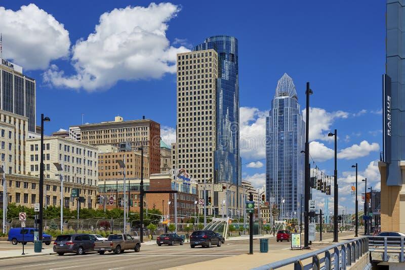 Cincinnati-Skyline lizenzfreie stockfotografie