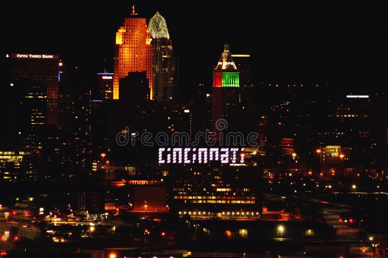 Cincinnati skyline royalty free stock image