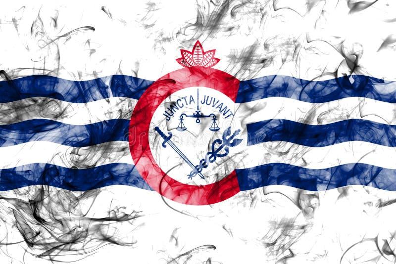 Cincinnati-Stadtrauchflagge, Staat Ohio, die Vereinigten Staaten von Amerika lizenzfreie stockfotos