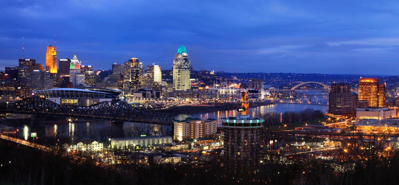 Cincinnati und Nord-Kentucky stockbilder