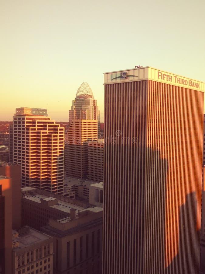 Cincinnati van de binnenstad royalty-vrije stock afbeelding