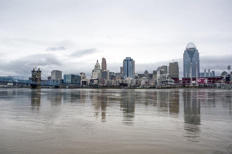 Cincinnati 2018 wylew zdjęcie royalty free