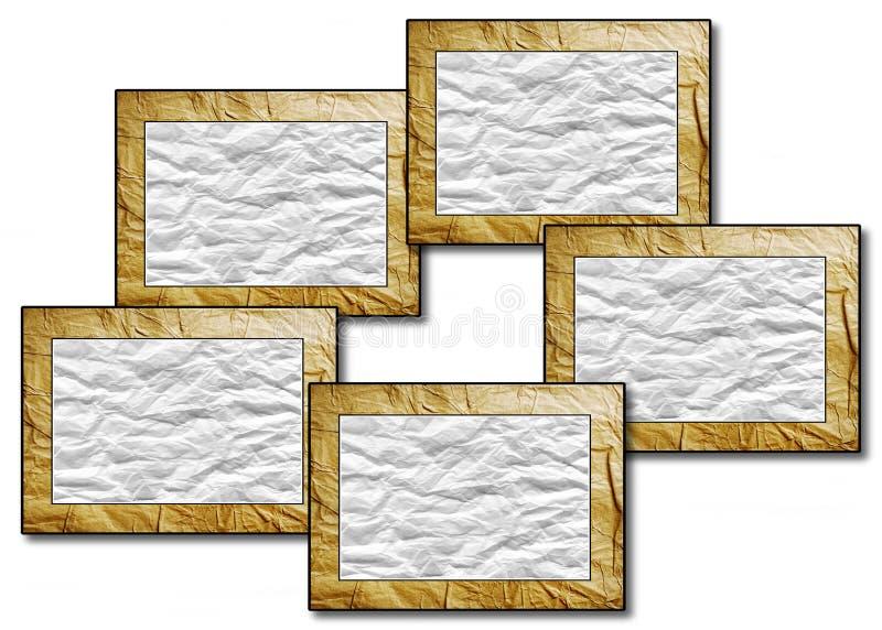 Cinco alcances por del papel machacado libre illustration