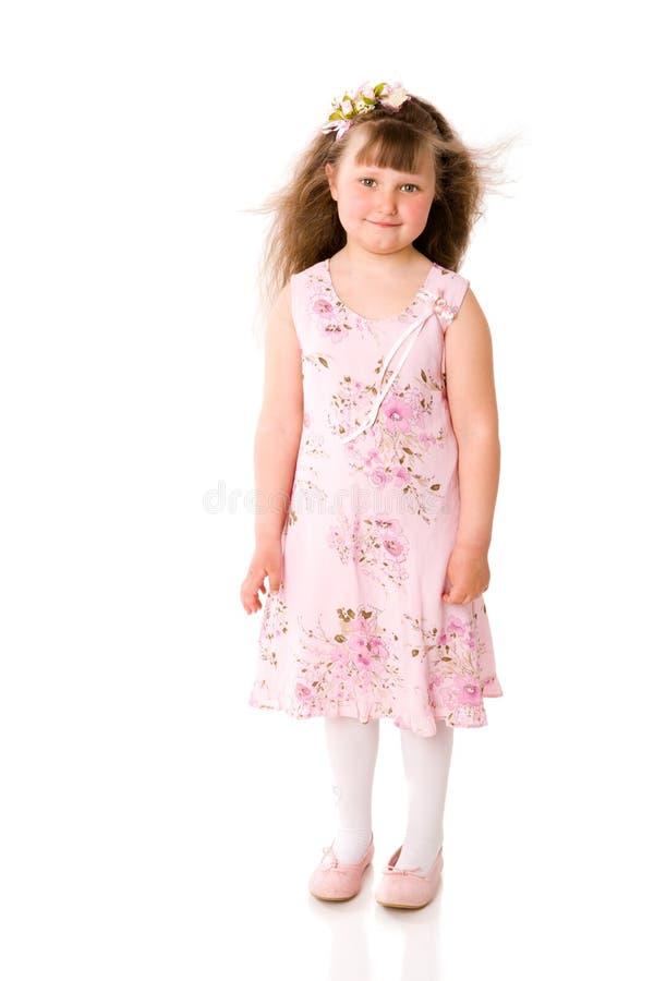 Cinco anos de menina fotografia de stock royalty free