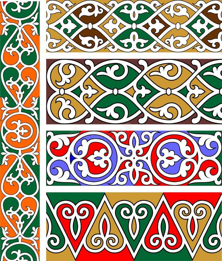 Cinco beiras decorativas ilustração royalty free