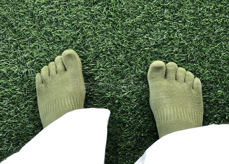 Cinco calcetines del dedo del pie fotografía de archivo