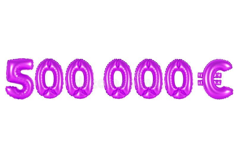 Cinco cem mil euro, cor roxa fotografia de stock