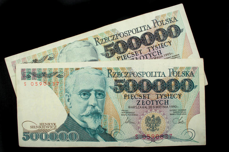 Cinco cem mil zloty fotografia de stock royalty free