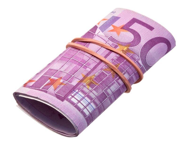 Cinco-centésimas notas de banco imagens de stock royalty free