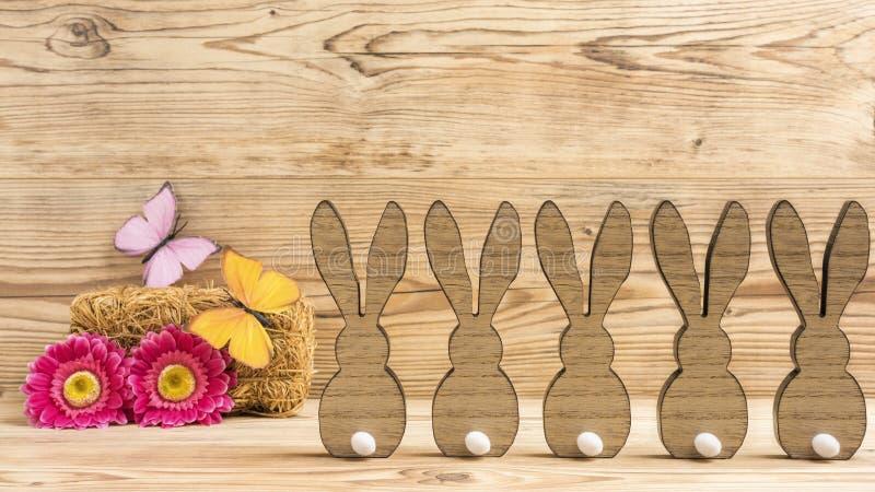 Cinco conejos fotos de archivo