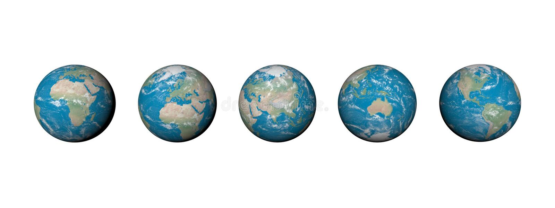 Cinco continentes - 3D rinden libre illustration