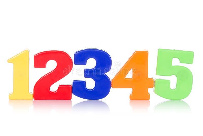 Cinco dígitos coloridos imagen de archivo