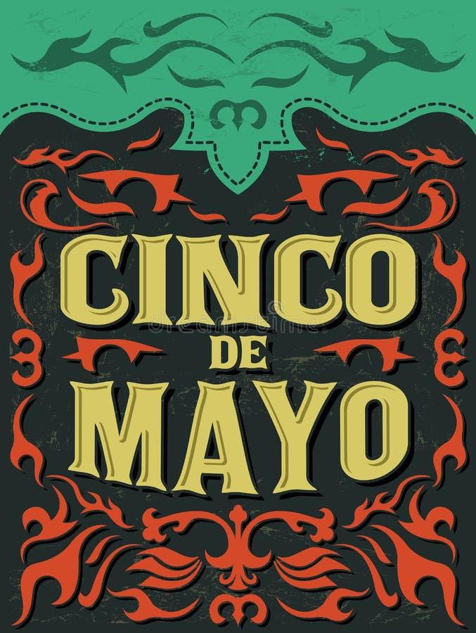 Cinco de mayo - μεξικάνικες διακοπές διανυσματική απεικόνιση