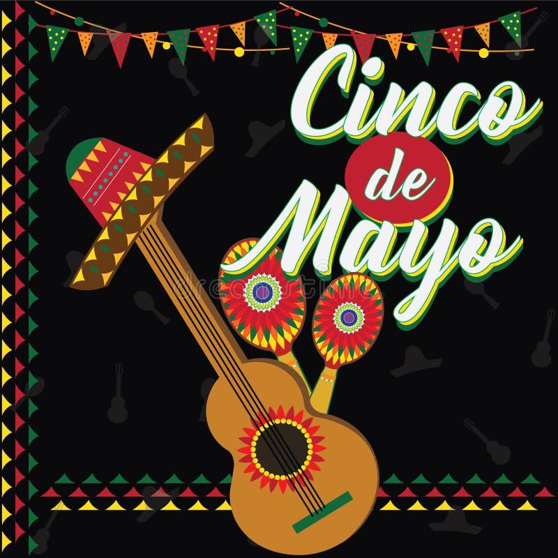 cinco de mayo Мексиканский фестиваль бесплатная иллюстрация