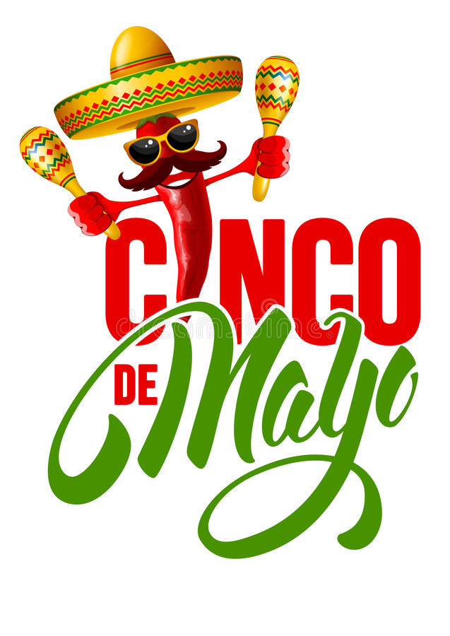 cinco de mayo royaltyfri illustrationer