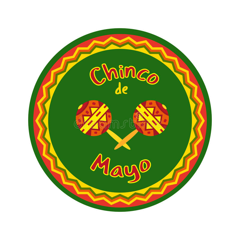 Cinco DE Mayo stock illustratie