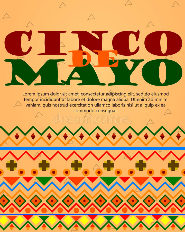 Cinco DE Mayo vector illustratie