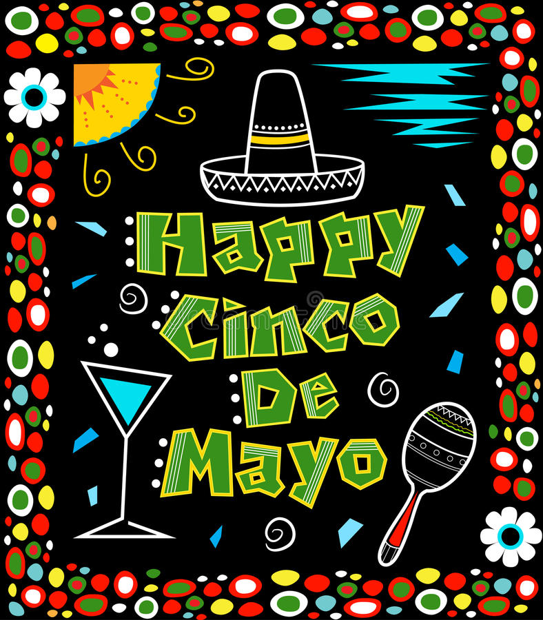 Cinco de Mayo-affiche vector illustratie