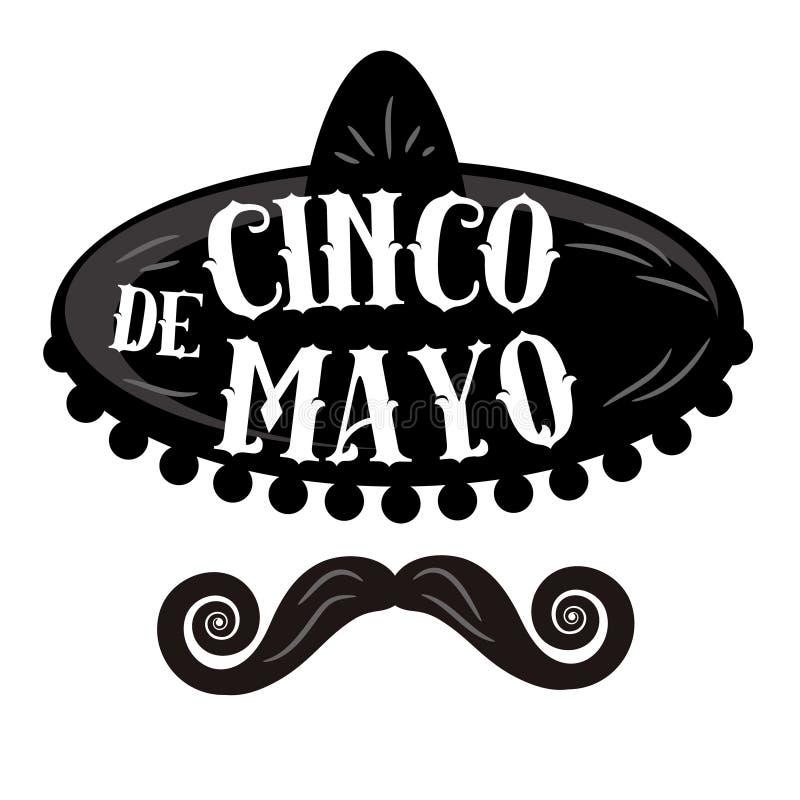 Cinco de Mayo affisch stock illustrationer