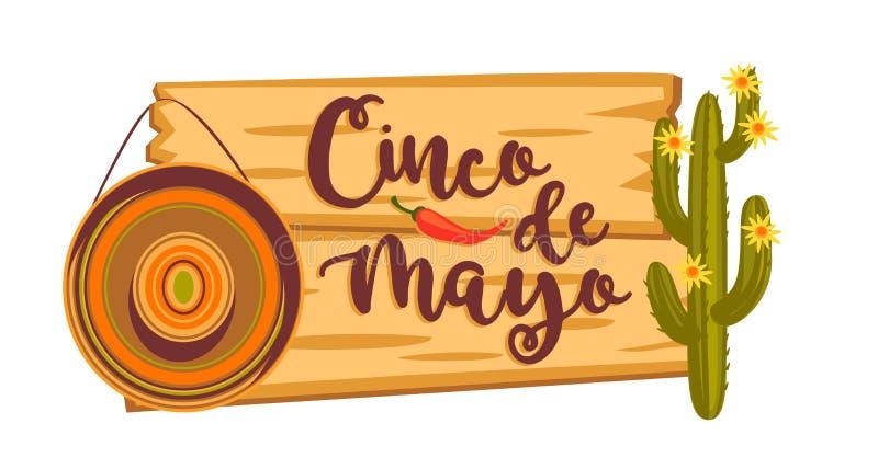 Cinco De Mayo Auch im corel abgehobenen Betrag stock abbildung