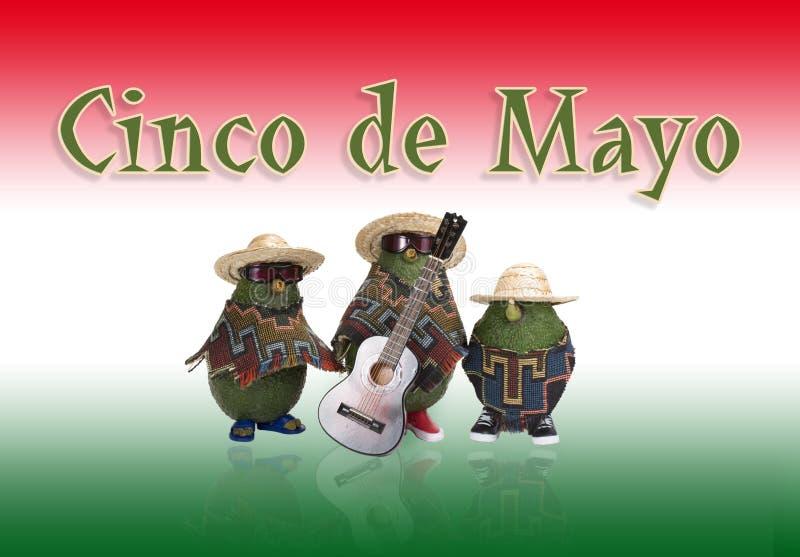 Cinco de Mayo - avocats illustration de vecteur