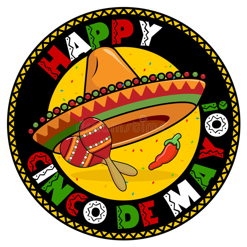 Cinco De Mayo Badge royalty free illustration