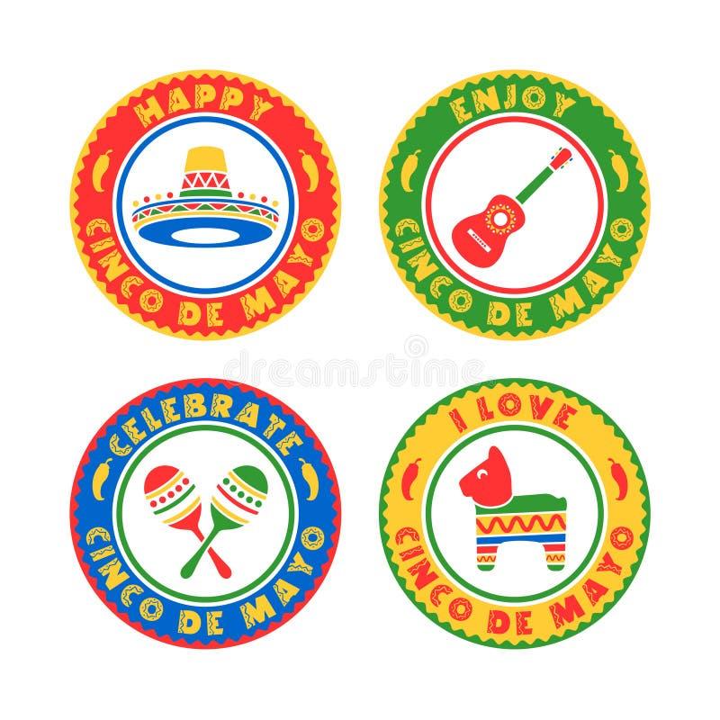Cinco De Mayo Badges