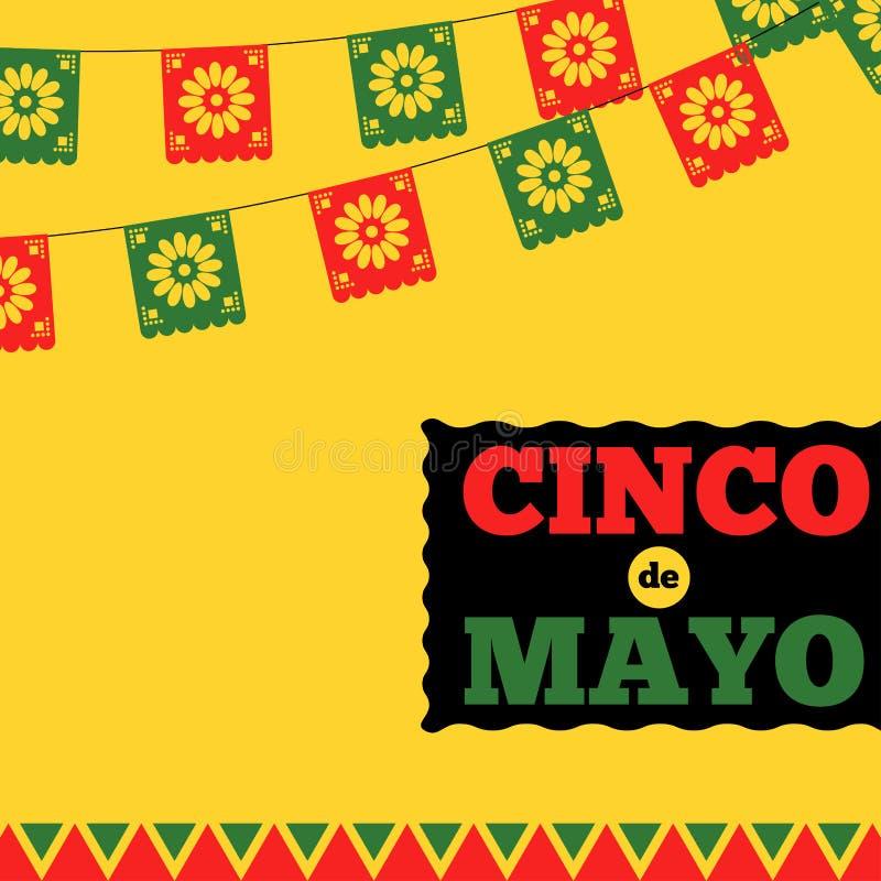 Cinco De Mayo Banner vektor illustrationer