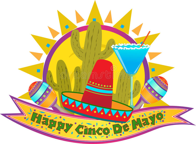 Cinco De Mayo Banner stock illustratie