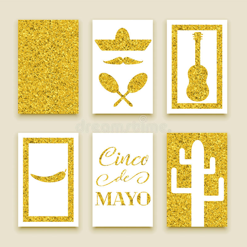Cinco de Mayo-banners royalty-vrije illustratie