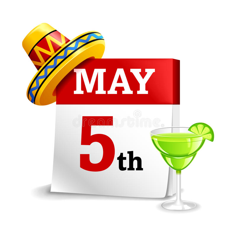 Cinco De Mayo Calendar Icon libre illustration