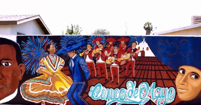 The Cinco de Mayo Celebration In Mexico & California royalty free stock photos