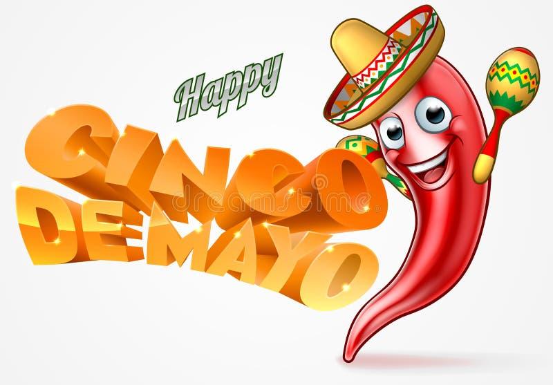 Cinco De Mayo chili pieprzu Meksykański projekt
