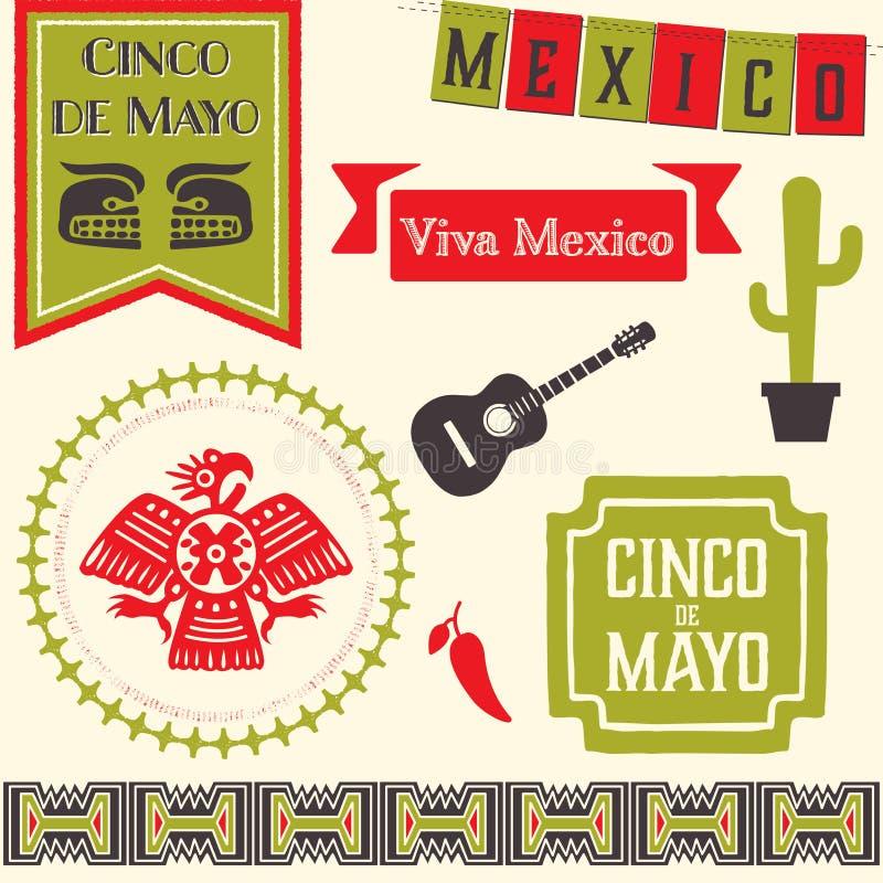 Cinco de Mayo Clipart royalty ilustracja