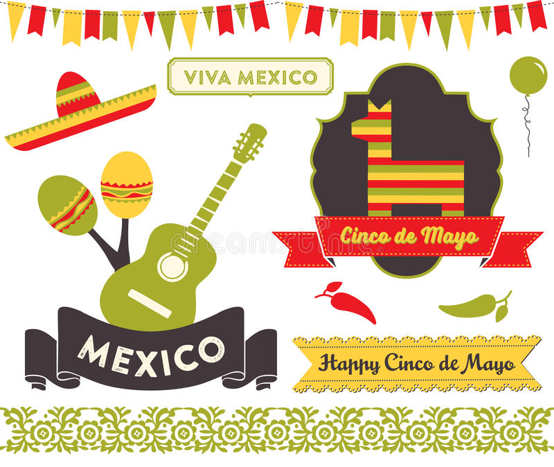 Cinco de Mayo Clipart royalty-vrije illustratie
