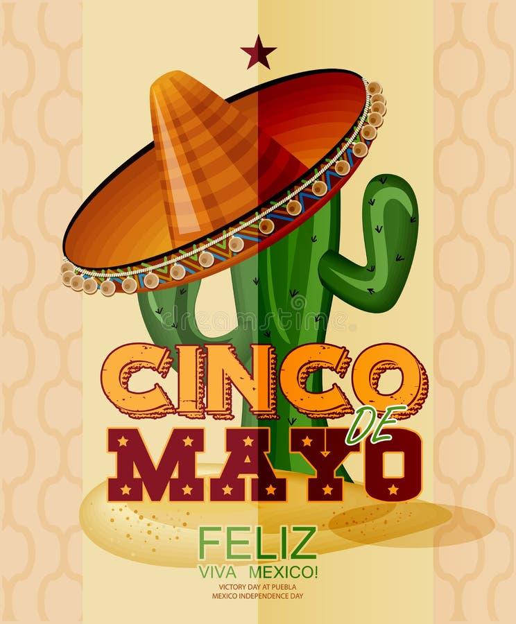 cinco de Mayo Feliz royalty ilustracja