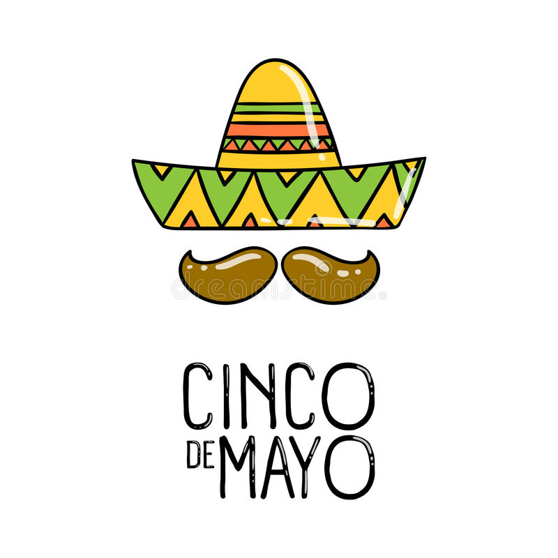 Cinco De Mayo ferieaffisch vektor stock illustrationer
