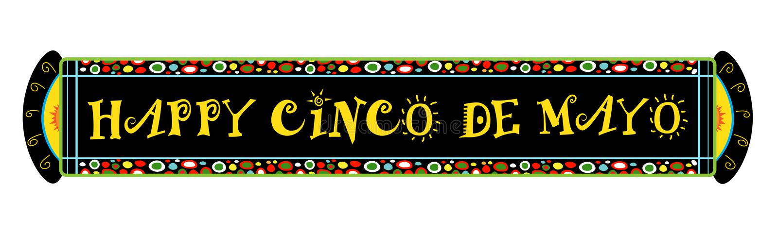 Cinco De Mayo Festive Banner royalty-vrije illustratie
