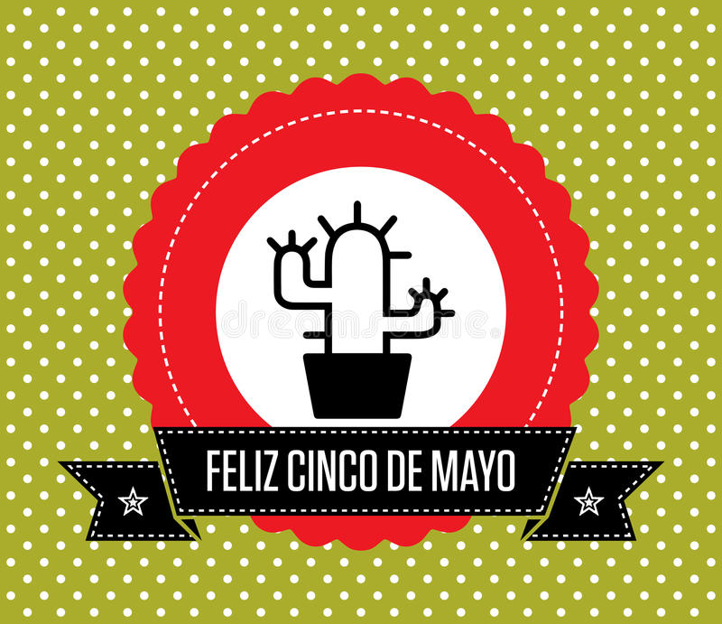 Cinco de Mayo - Groetkaart stock illustratie