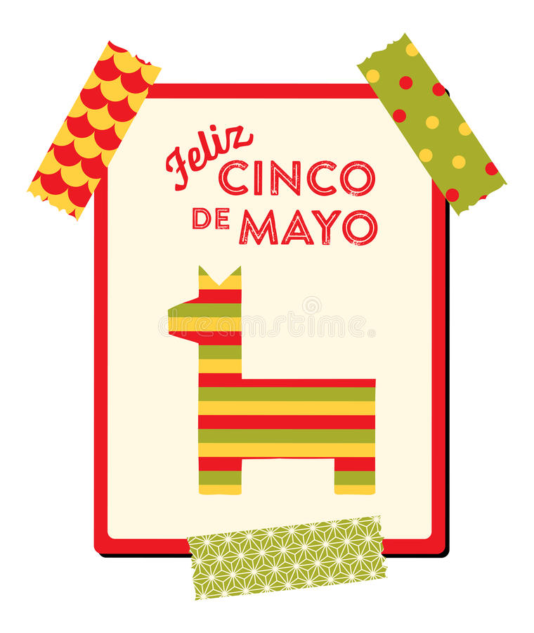Cinco de Mayo - hälsningkort vektor illustrationer